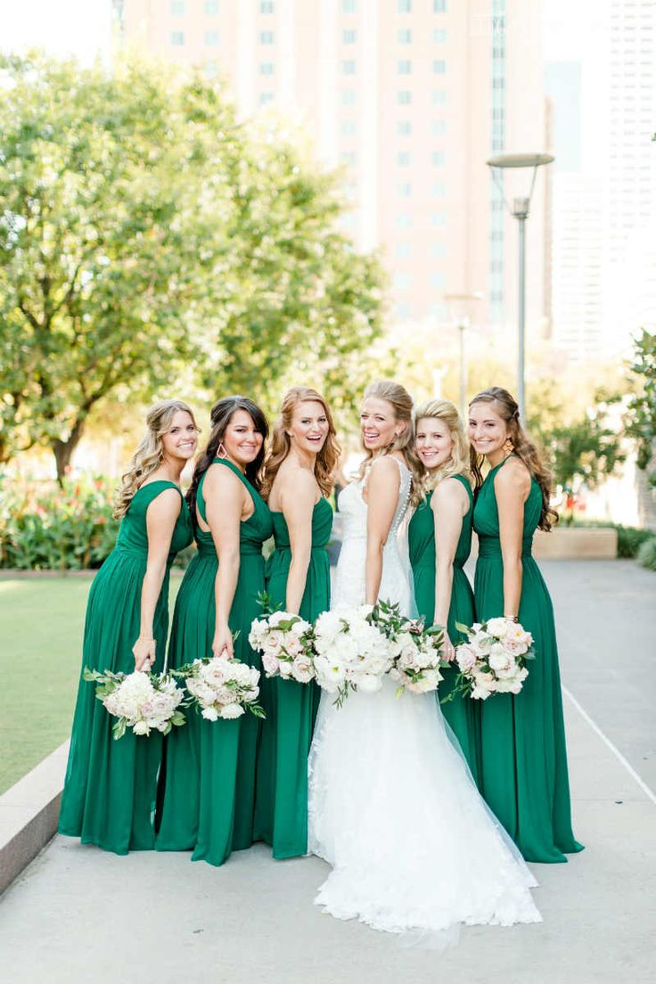 green bridesmaid dresses emerald wedding theme with tons of greenery | elegant wedding. green  bridesmaidsunique opjsmcd