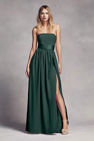 green bridesmaid dresses soft u0026 flowy white by vera wang long bridesmaid dress vxdcacx