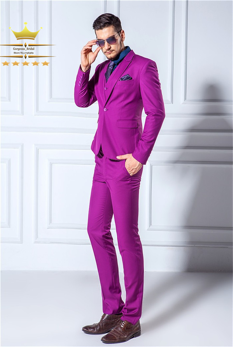 grooms mens tuxedos custom made wedding suits for men with pants purple suit hynrhsx