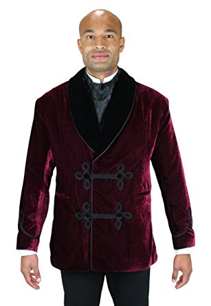 historical emporium menu0027s vintage velvet smoking jacket s burgundy adbhvlh