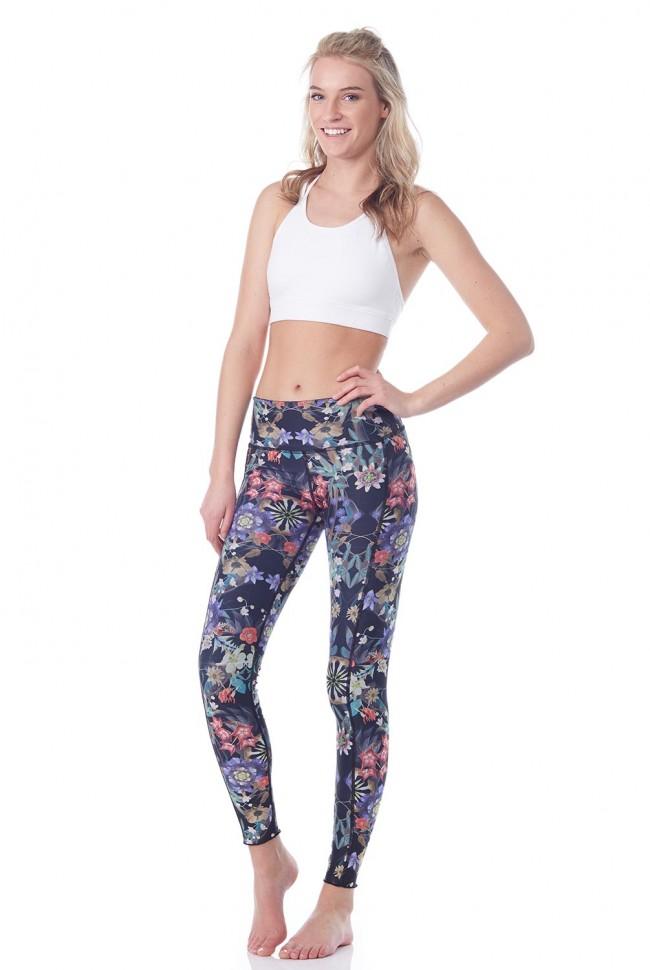 hottie yoga wear reversible quench legging in magic mirror dadjiok