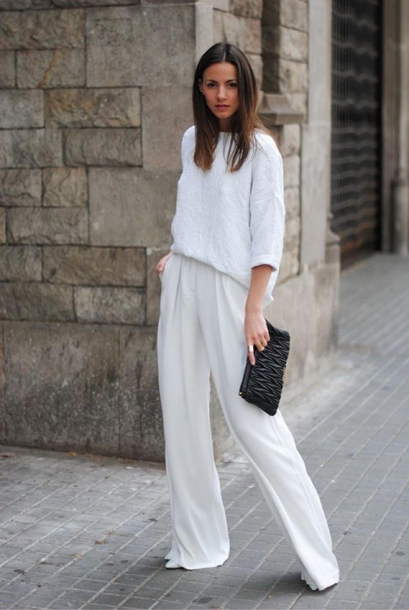 how to style ladies white pants in 2017 (14) piyljua