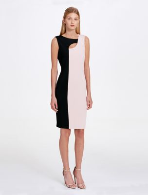 image for colorblock cut-out sheath dress from calvin klein tohkbeu