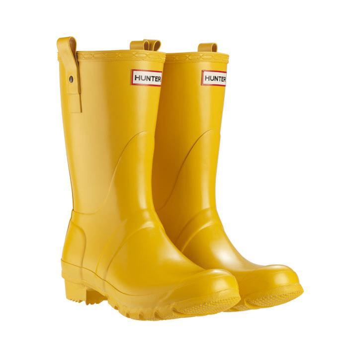 image of hunter original short wellington boots - yellow jholdjf