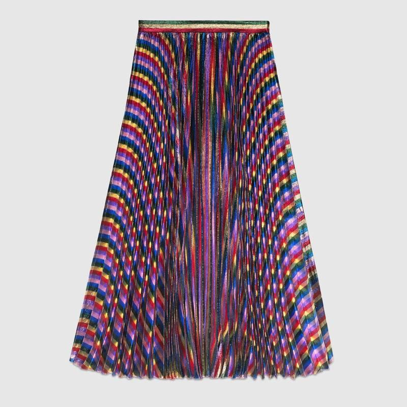 iridescent pleated skirt kkaztch