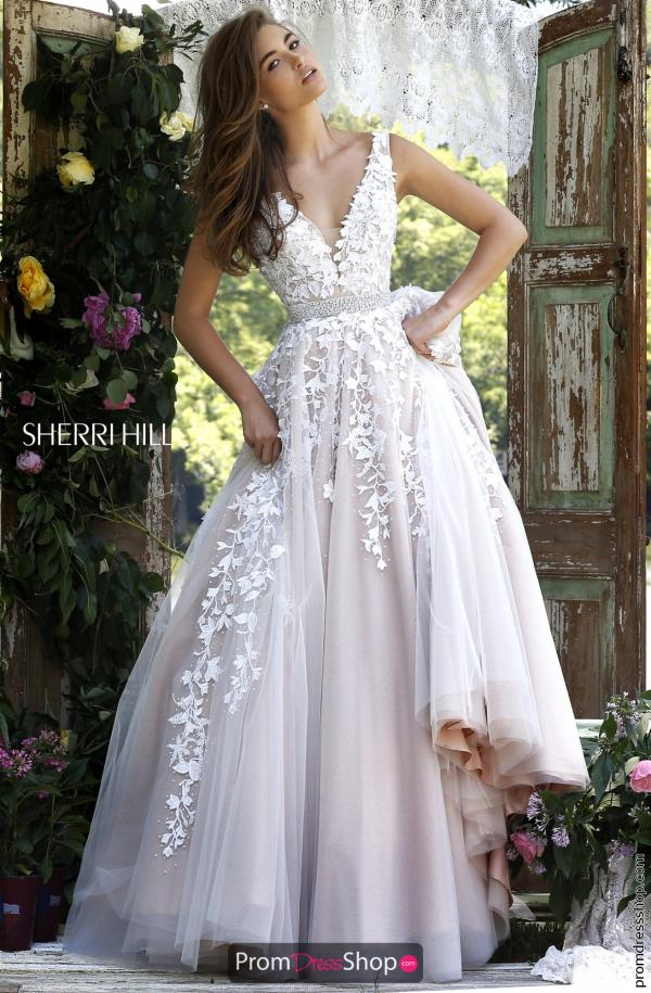 ivory dresses long applique sherri hill dress 11335 tiuhyea