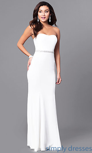 ivory dresses strapless ivory white long prom dress with jewels . xiimeye