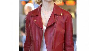 january jones red leather jacket women whbmpqz