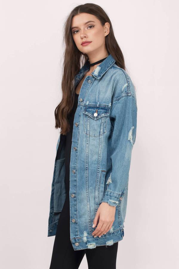 jean jacket ... essue essue jackie medium wash denim jacket ... fnlsoqq