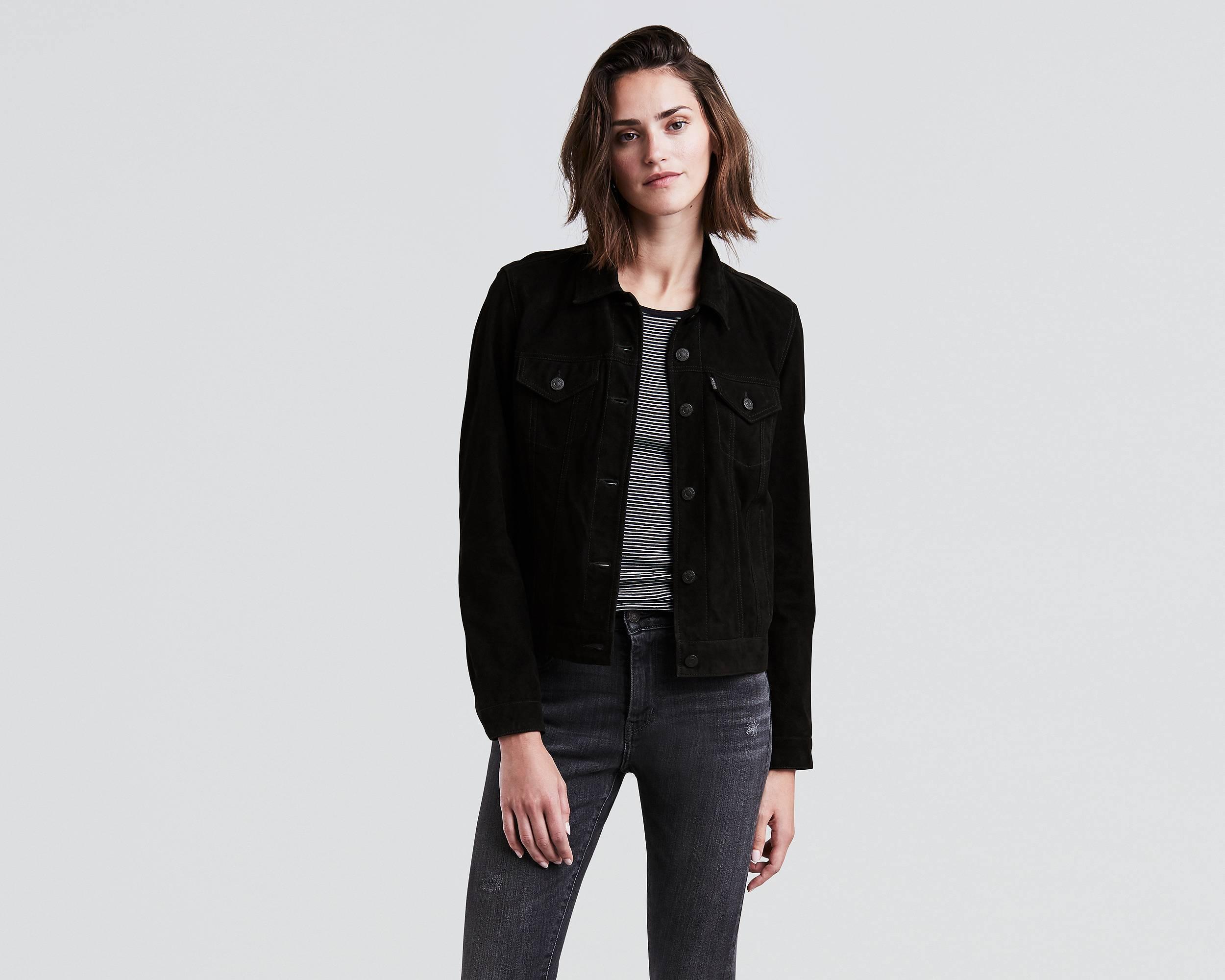 jean jacket quick view · suede trucker jacket tedribl