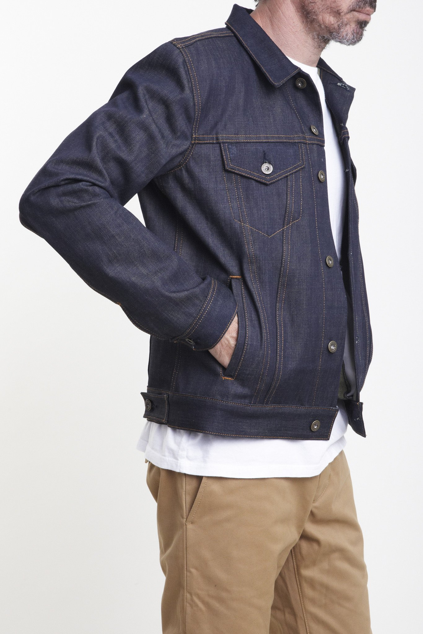 jean jacket the ironside 15oz cone mills selvage denim jacket pduapqh