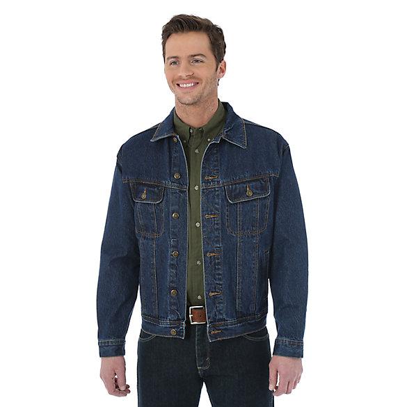 jean jacket wrangler rugged wear® denim jacket mnbgbnd