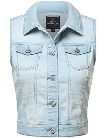 jean vest fpt womens cropped denim vest light wash 3x-large lyvcdrf