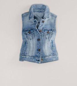 jean vest image is loading nwt-american-eagle-cropped-denim-jean-vest-jacket- uyphrjg