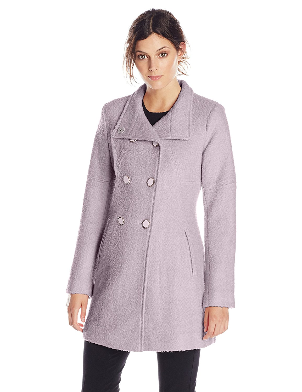 jessica simpson coats amazon.com: jessica simpson womenu0027s double-breasted boucle coat: clothing bfqmhea