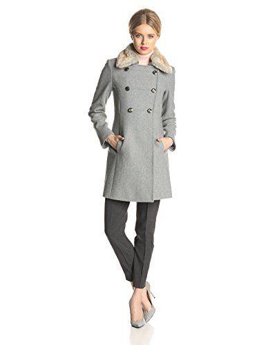 jessica simpson coats jessica simpson womenu0027s double breasted military wool coat with fur collar qokdjrc