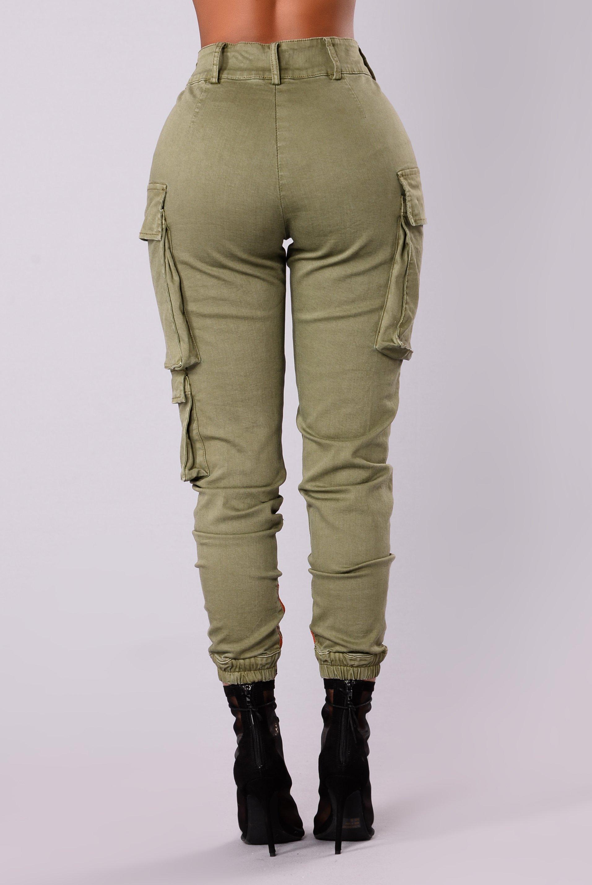 kalley cargo pants - olive ptnobsx