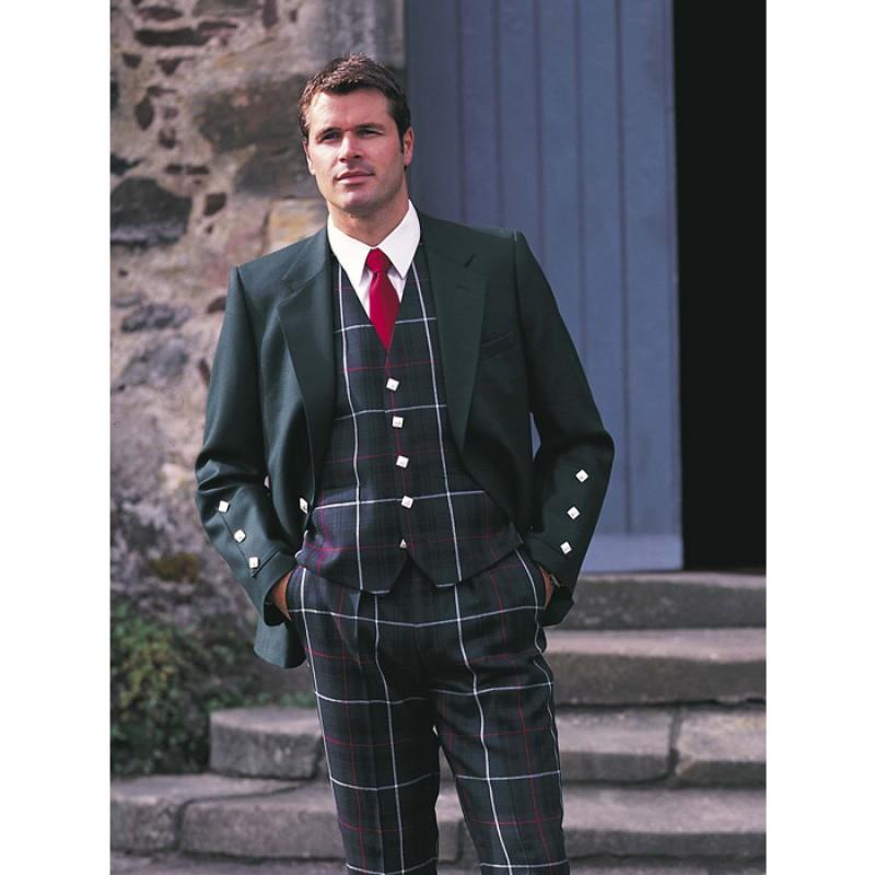kinloch jacket for tartan trousers - black barathea bacpywk