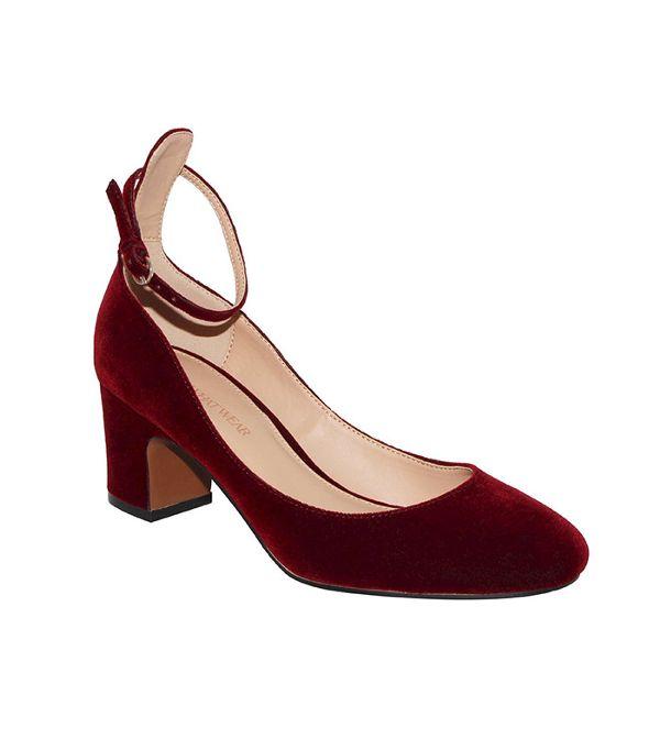 kitten heels who what wear velvet quarter strap pump ($38) jghttdd