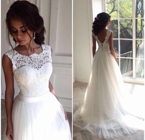 lace wedding dresses a-line wedding dress,high waist wedding dress,v back wedding dress,gorgeous wedding  dress,fashion wedding mgjiyew