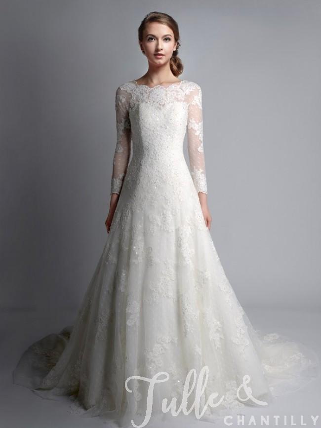 lace wedding dresses vintage bateau neck long sleeves lace wedding gown tbqwc024 ikufunm