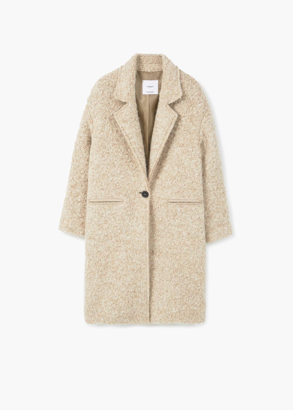 lapels wool coat   mango sauoknl
