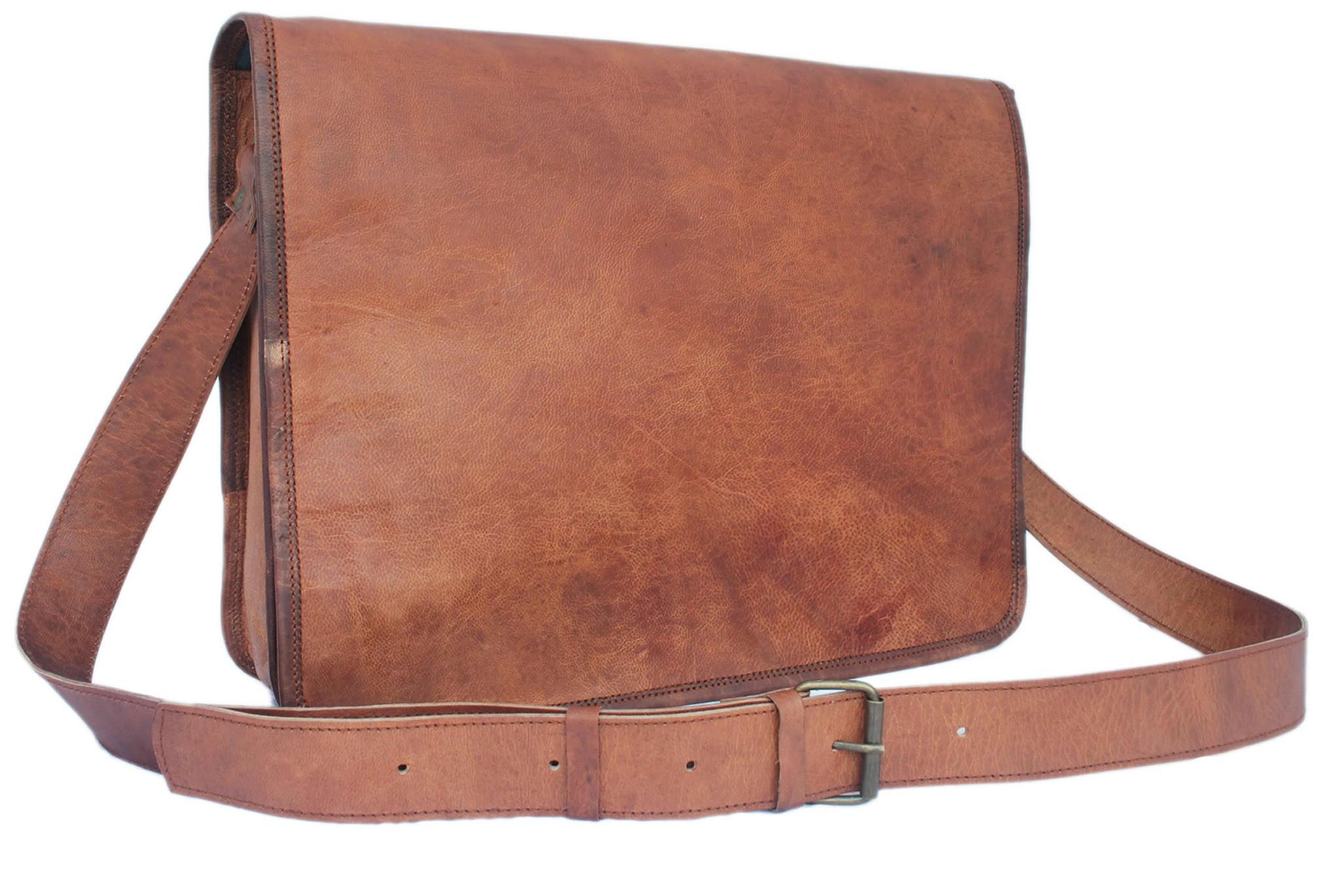 leather bags messenger vintage brown leather messenger bag 15u2033 pebbiyz