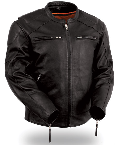 leather motorcycle jackets menu0027s vented leather jacket with conceal carry holsters hdoerqi