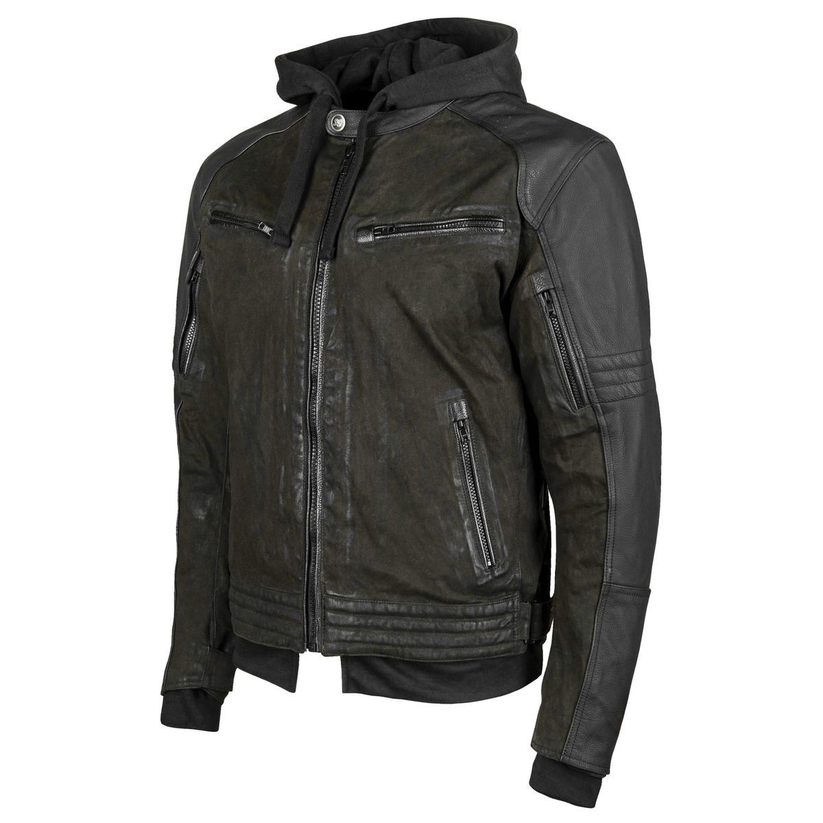 leather motorcycle jackets speed and strength menu0027s straight savage leather-canvas jacket atvkfke