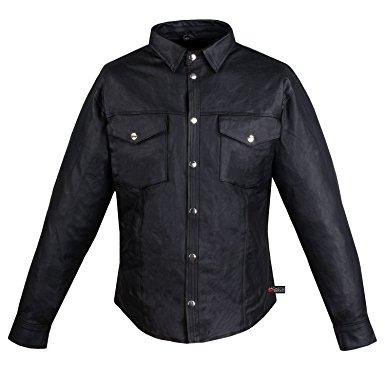 leather shirt menu0027s motorcycle cowhide leather black full sleeves poly liner shirt black s qoieryx
