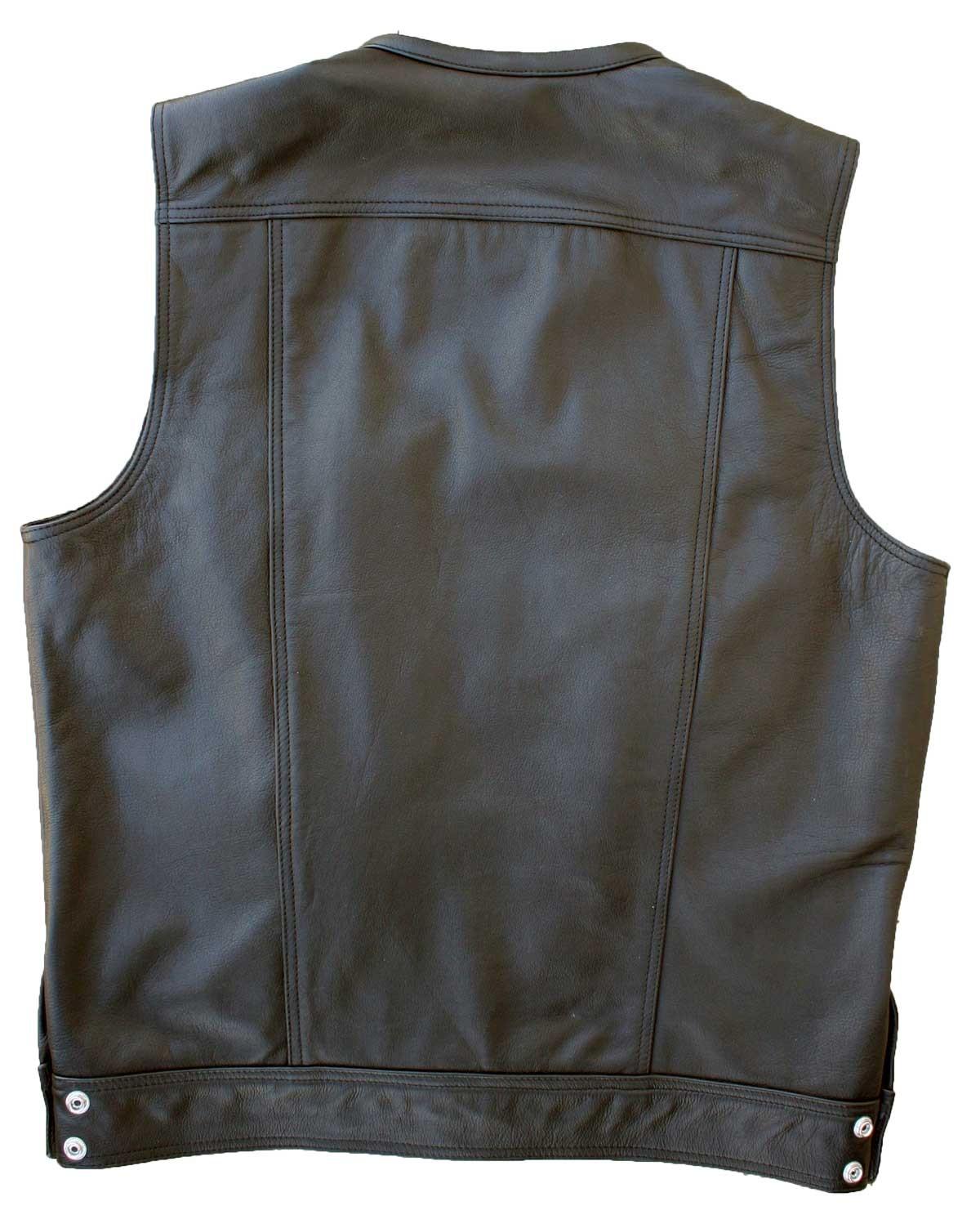 leather vest dirty cop motorcycle vest zibcapa