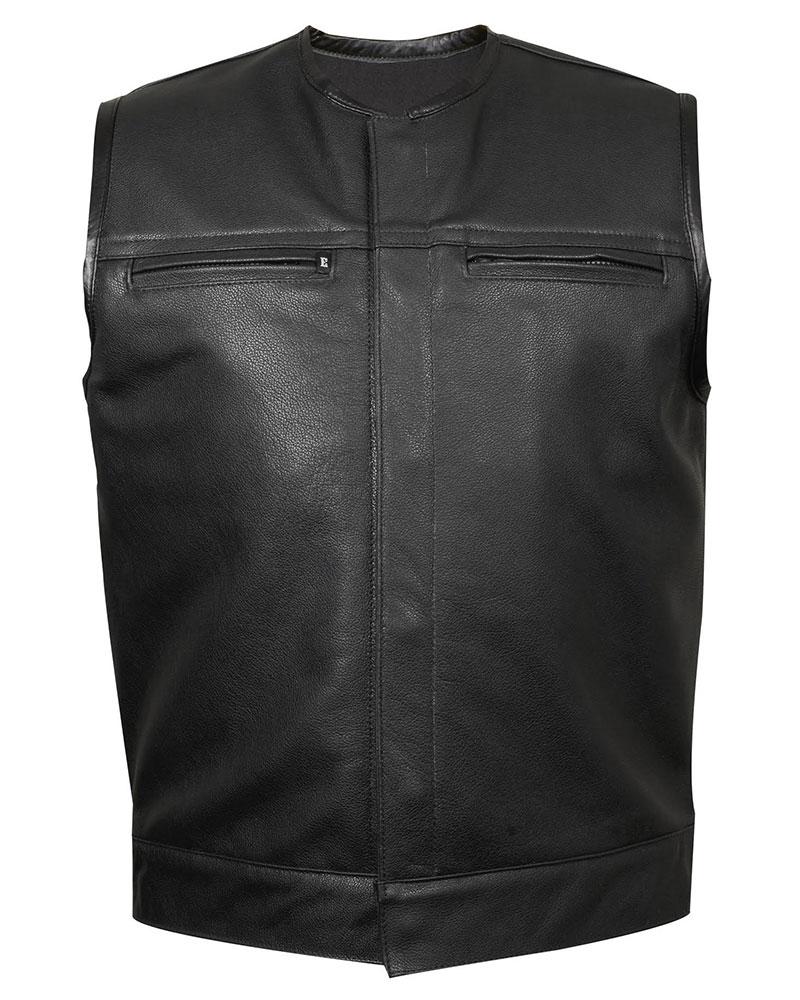leather vest leather club vest #3 (zipper chest pockets)   espinozau0027s leather rhvhmlz