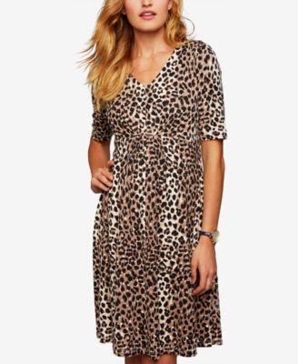 leopard print dress a pea in the pod maternity leopard-print dress nfuawcc