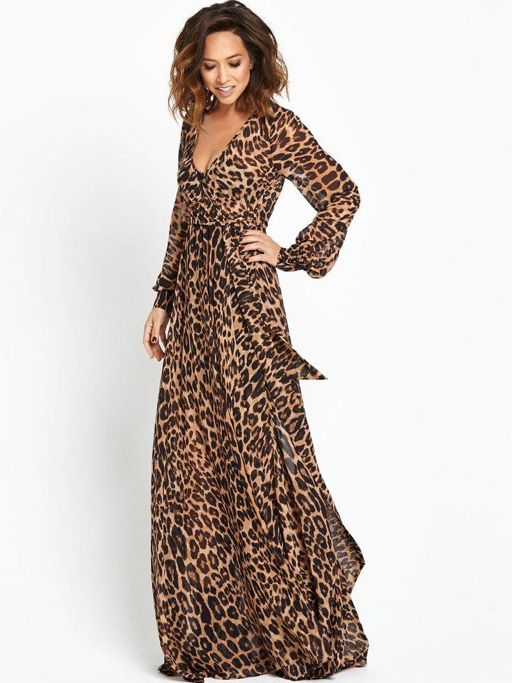 leopard print dress myleene klass dons plunging leopard print at globalu0027s make some noise rstbkmn