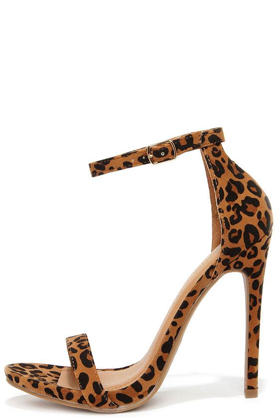 leopard pumps cute leopard heels - ankle strap heels - high heel sandals - $34.00 lomjeov