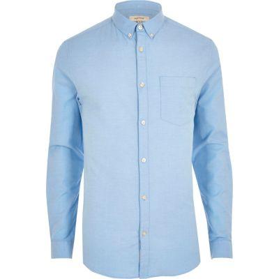 light blue muscle fit oxford shirt lnffxst