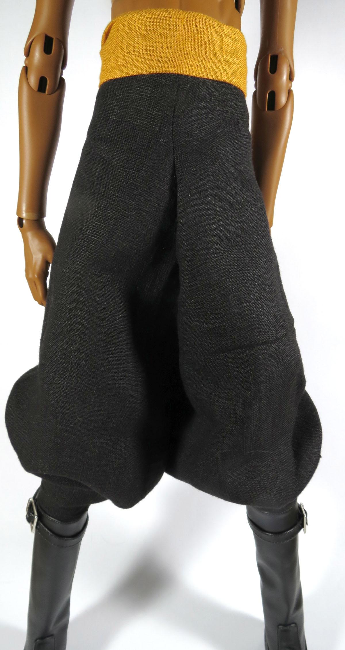 linen harem/parachute pants large cyaqxzf