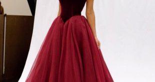 long red prom dresses, mermaid organza prom dress, sexy prom dress, 2017 xvgpfwn