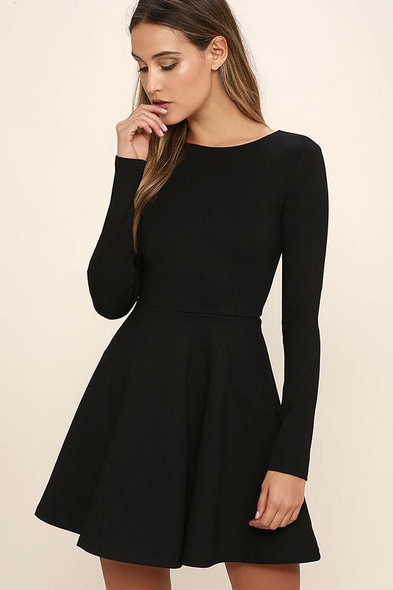 long sleeved dresses forever chic black long sleeve dress 1 pfaiczo