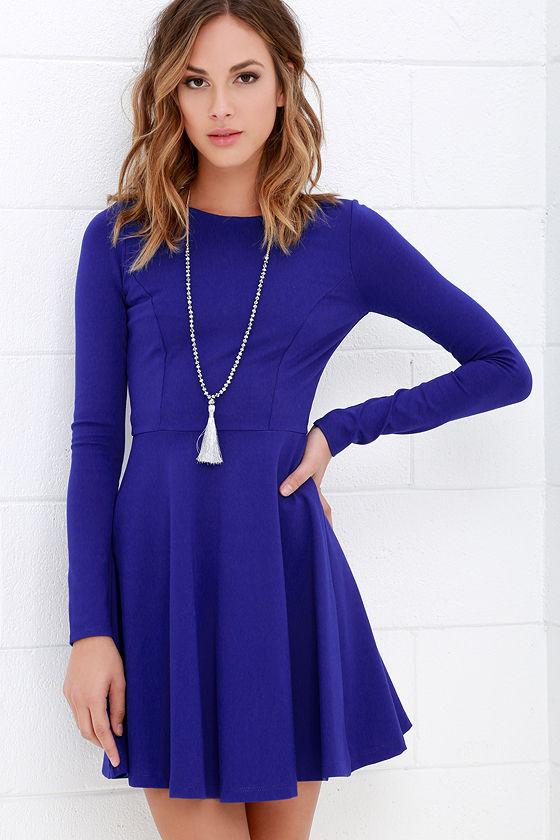 long sleeved dresses forever chic royal blue long sleeve dress 1 orlbtnt