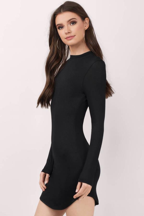 long sleeved dresses stassie black bodycon dress stassie black bodycon dress ... oesuezd