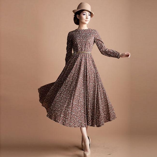 long vintage style dresses zycgakz