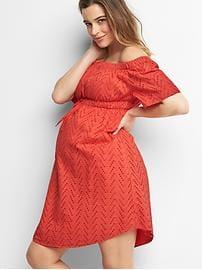 maternity wear maternity zigzag off shoulder dress ilpibhn wwbxuxk
