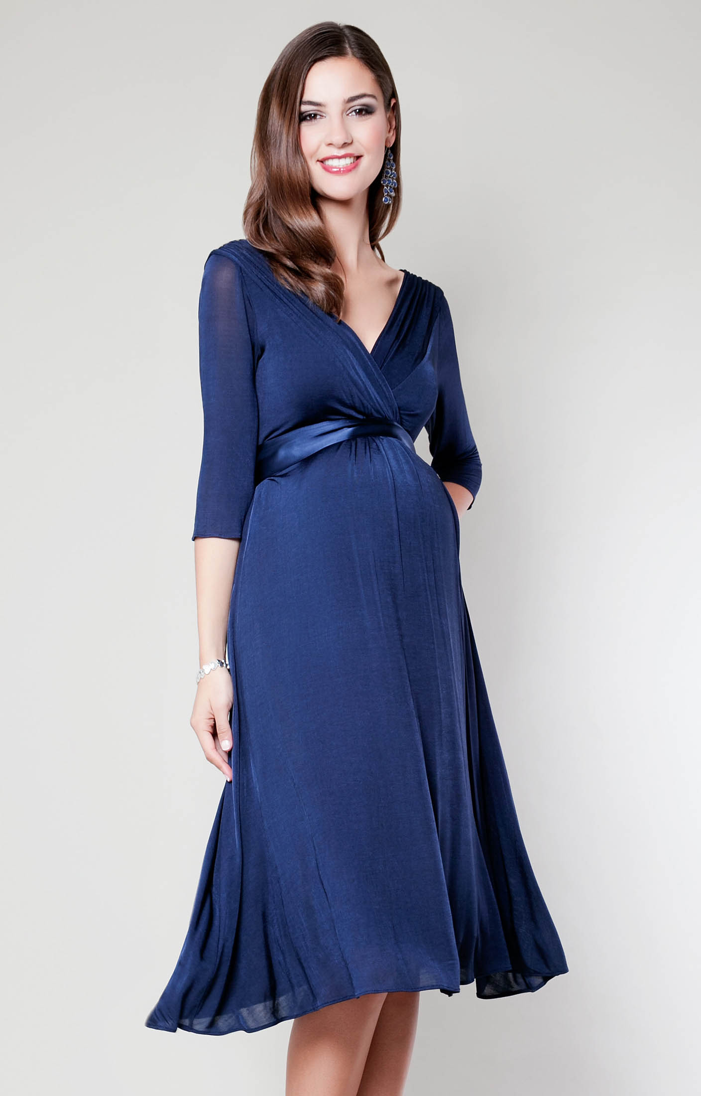 maternity wear willow maternity dress (midnight blue) by tiffany rose tkdazkq