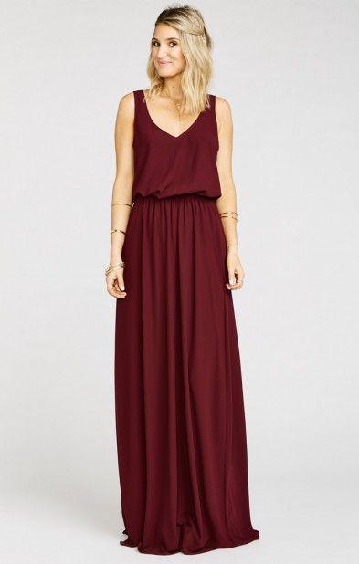 maxi dresses for weddings kendall maxi dress ~ merlot chiffon rqasafh