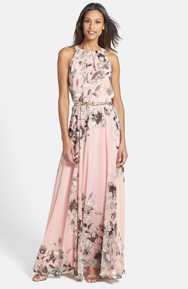 maxi dresses for weddings pink floral maxi qnkreuf
