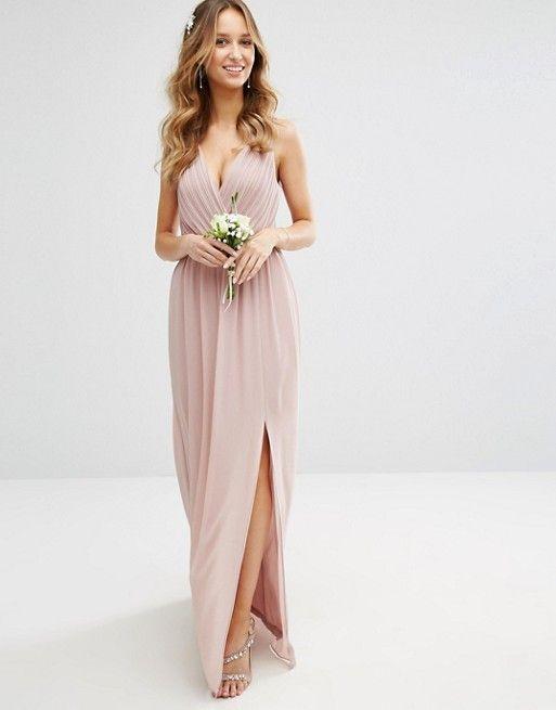 maxi dresses for weddings tfnc wedding pleated maxi dress with back detail asos fwblkrs