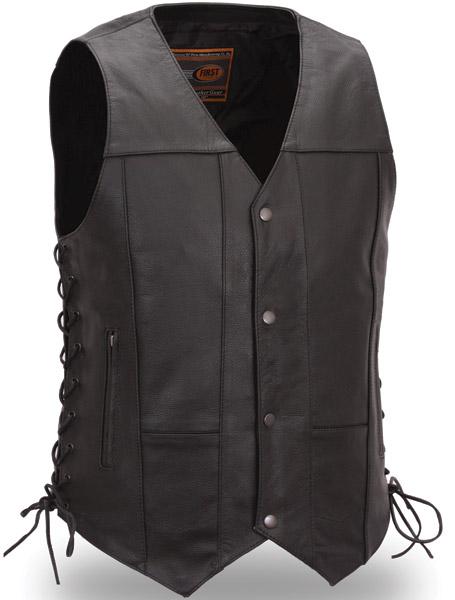 menu0027s 10 pocket leather vest cibdmqa