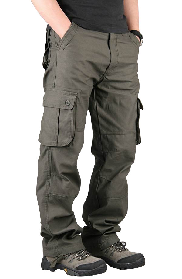 menu0027s extra large multi pockets outdoor cargo pants casual loose cotton  trousers iunlafk