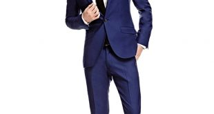 menu0027s royal blue twill extra slim fit suit - super 120s wool smzlqlb